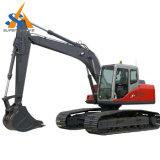 Escavatore del cingolo con il baldacchino o la baracca
