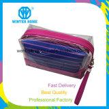 Прозрачная ткань нашивок PVC водоустойчивая устанавливает косметический мешок