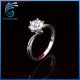 Monili cubici dell'anello dell'argento sterlina di alta qualità di Zirconia di stile coreano di modo per il regalo