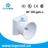 """Système de refroidissement d'échappement de fibre de verre du ventilateur d'aérage à écoulement axial 36 """""""