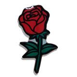 Epoxy покрывая Pin отворотом Rose с изготовленный на заказ логосом
