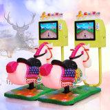 3D het Rennen Muntstuk van het Videospelletje van de Jonge geitjes van het Paard stelde de BinnenRit van het Paard van Ritten Kiddie Muntstuk In werking gestelde/in werking In werking gesteld Muntstuk