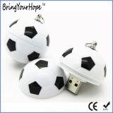 Mecanismo impulsor del flash del USB del diseño del balompié de la dimensión de una variable del fútbol con el Keyring (XH-USB-007)