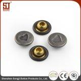 Botón simple del broche de presión del remache del metal de los accesorios de la ropa de la manera