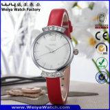 ODM Polshorloges van de Dames van de Manier van de Riem van het Leer de Horloge Aangepaste (wy-076C)