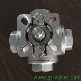 O aço inoxidável de aço forjado ASTM-A105 A182-F304/F316 F11/F51 4-Way de quatro vias flangeou fábrica do fabricante da válvula de esfera Q46f