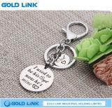 Presente feito sob encomenda do suporte da chave da corrente chave da promoção do anel chave do metal