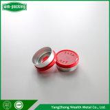 Rojo de 20mm Modular Aluminum-Plastic Bottle Cap de antibióticos