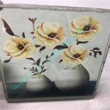 Het elegante Glas van de Kunst met Mooie binnen Bloem