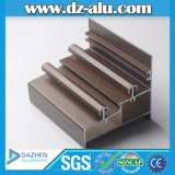 Profil T5 de l'aluminium 6063 pour la porte coulissante de tissu pour rideaux de guichet