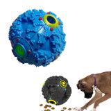 Heiße fehlerfreie Leckage-Nahrungsmittelkugel-Hundespielzeug-Haustier-Zufuhr-quietschende Gekicher-Quaken-Ton-Trainings-Spielzeug-Kauen-Kugel