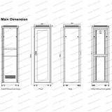 Шкафы сервера Telecommunication&Broadcasting приложения шкафа металла Gc 24u-47u стоящие