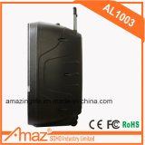 Altavoz sin hilos de Bluetooth de la batería de litio de Amaz con garantía de calidad del rectángulo del altavoz de la historieta/de Brown