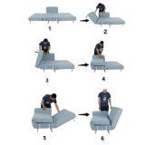 Plegable abajo del sofá convertible de la base del durmiente del ocioso del tirón de la silla hacia fuera
