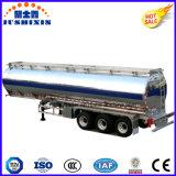 50 toneladas de gasolina del depósito de acoplado de aluminio semi