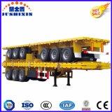 3개의 차축 평상형 트레일러 또는 반 플래트홈 콘테이너 수송 실용적인 콘테이너 트럭 트레일러