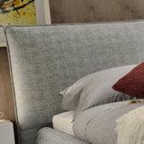 ホテルの寝室G7001のための現代純木フレームファブリックベッド