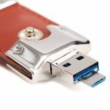 Ledernes androides Doppel-USB-Laufwerk 3.0 unterwegsPendrive