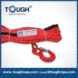 веревочка ручной лебедки ворота DMX 10mmx30m 21000lbs UHMWPE синтетическая используемая миниая