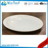 Assiette profonde de plaque de porcelaine de spaghetti blancs de pâtes