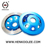 대리석과 화강암 도와를 위한 4 인치 다이아몬드 터보 컵 바퀴