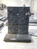 Headstones commemorativi del granito blu della perla per il commercio all'ingrosso