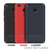 Kasten der Kohlenstoff-Faser-TPU für Xiaomi Redmi 4X