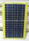 5W PCB Panneau solaire laminé pour chargeur de voiture avec quatre Meunier en plastique