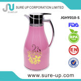 Rosafarbene Glasnachfüllung arabischer Dallah Thermos-Kaffee-Potenziometer 1.0 L