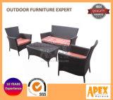 Pomotionのテラスの藤の家具の屋外の家具の庭の家具のソファー