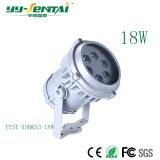 18W 은 라운드 LED 반점 빛, 세륨에 옥외를 위한 정원 램프