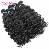 工場価格のイボンヌのペルーのバージンのイタリアの巻き毛の人間の毛髪の織り方