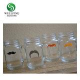 Indicatori a forma di baffi della bevanda di vetro di vino del silicone