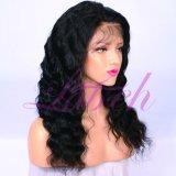Глубокую волны бразильский Virgin человеческого волоса кружева передней парики