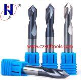 製造の固体炭化物高品質の90度ポイント穴あけ工具