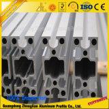 6063t5 extrusão de alumínio anodizado Slot V perfis de alumínio