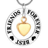 [ولّ فريند] دائما تذكار مدلّاة بعض ذهبيّة قلب ترميد عقد