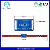 사건 NFC 직물에 의하여 개인화되는 길쌈된 RFID 소맷동