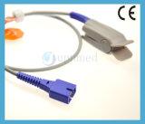 Oximax da Nellcor DS-100um dedo de adulto Encaixar o sensor de SpO2, 9 pinos