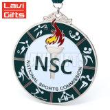 Personalizados baratos recuerdos Premio Medalla de Esmalte Duro deporte de metal con cinta