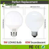 ampola equivalente de ampolas da vaidade dos bulbos 60W do diodo emissor de luz G25 do bulbo do globo do diodo emissor de luz de 9W E26 (com o UL alistado)