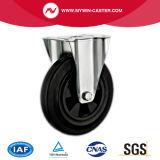 8 polegadas de tipo plástico roda industrial de Europa do furo de parafuso do núcleo da borracha dos rodízios