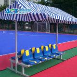 スポーツ裁判所のための避難所が付いている屋外のポータブルプレイヤーのベンチ