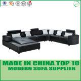 Nuovo strato del sofà del cuoio di disegno del commercio all'ingrosso U di modo di arrivo