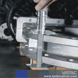 Литые стальные Wcb/переводная пластина полного выступ запорный клапан ножа