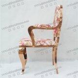 Ycx- Ss35のChaiseのレストランのローズの金のArmrestが付いている贅沢な宴会の椅子