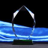 K9 de Duim van de Toekenning van de Trofee van het Glas van het Kristal met Zwarte Basis