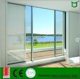 Раздвижная дверь горячего сбывания алюминиевая стеклянная при застекленный двойник