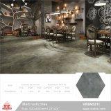 China Foshan Buiilding gris Material rústico piso de cerámica azulejos de porcelana seis esquinas (VR6N5204, 520x600mm/20''x24'')