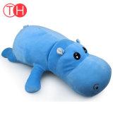 La peluche animale de taille faite sur commande d'ICTI joue les jouets en gros de peluche d'hippopotame
